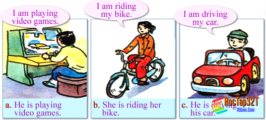 A. What are you doing? (Phần 1-7 trang 82-85 SGK Tiếng Anh 6)