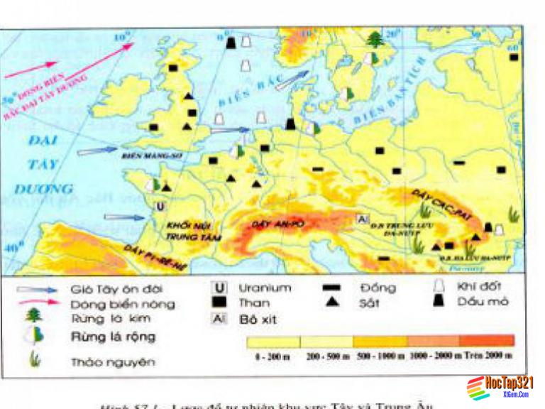 Bài 57: Khu vực Tây và Trung Âu