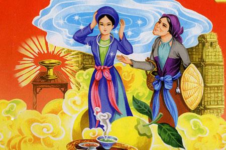 Bài văn số 1: Kể chuyện cô Tấm đang ở nhà bà hàng nước, nhớ nhà, nhớ Vua, mong được đoàn tụ