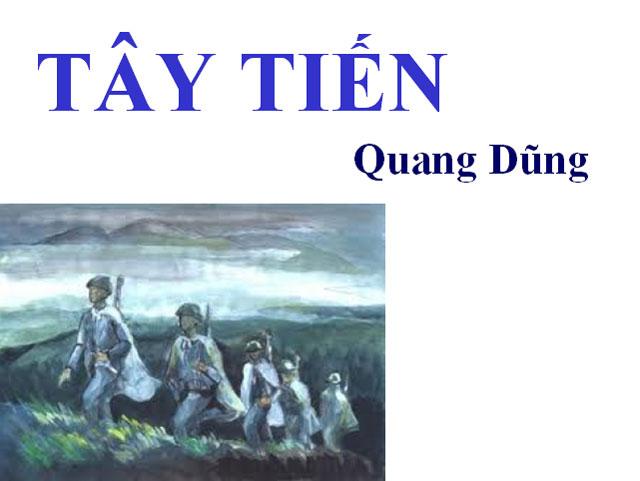 Bình giảng bài thơ Tây Tiến của Quang Dũng