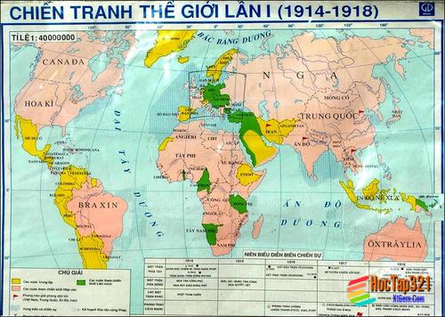 Lịch Sử 8 -Bài 13- CHIẾN TRANH THẾ GIỚI THỨ NHẤT (1914-1918)