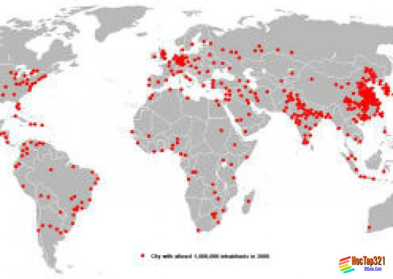 Phân tích bản đồ phân bố dân cư thế giới