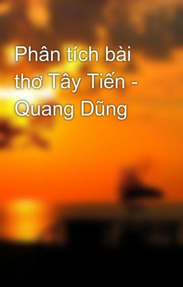 Phân tích ngắn gọn bài thơ Tây Tiến của Quang Dũng