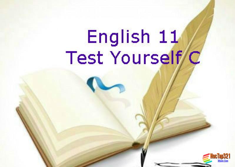 Test Yourself C English 11 (Unit 7 - 9)
