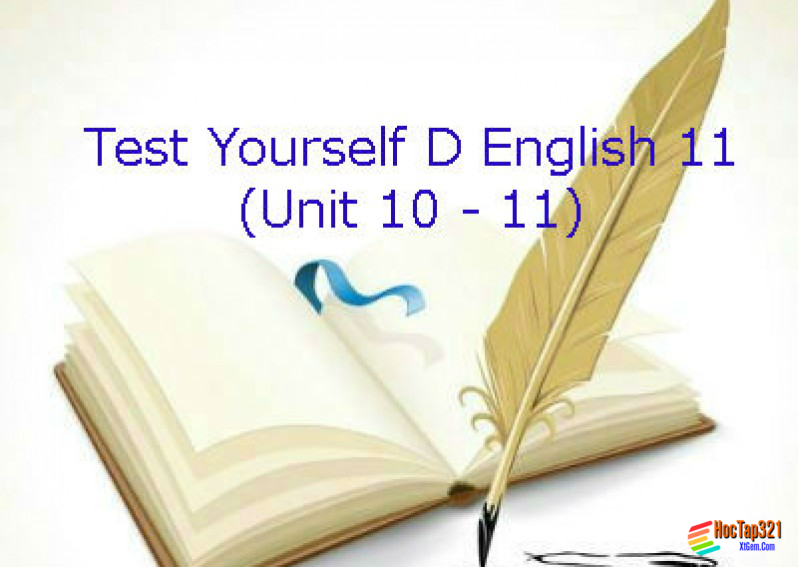 Test Yourself D English 11 (Unit 10 - 11)