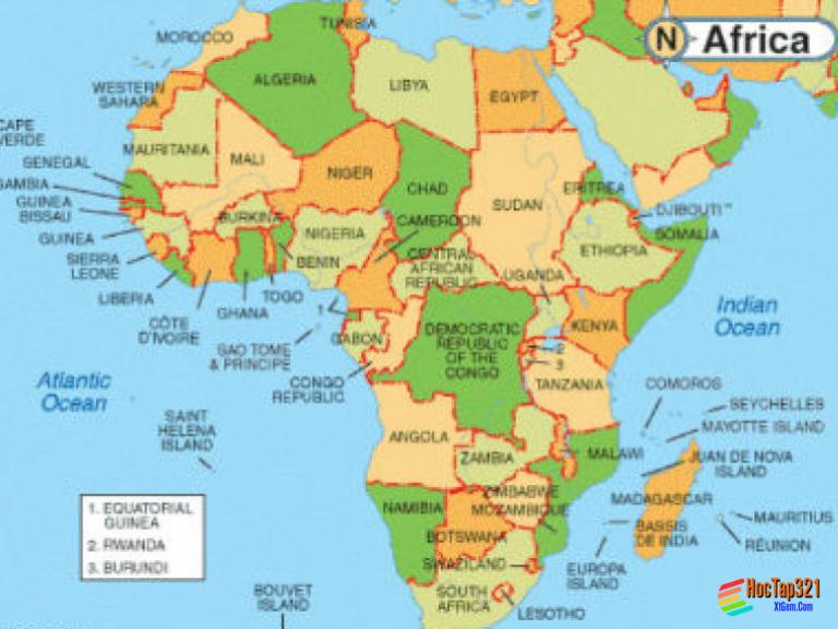 Thực hành so sánh nền kinh tế của ba khu vực châu phi